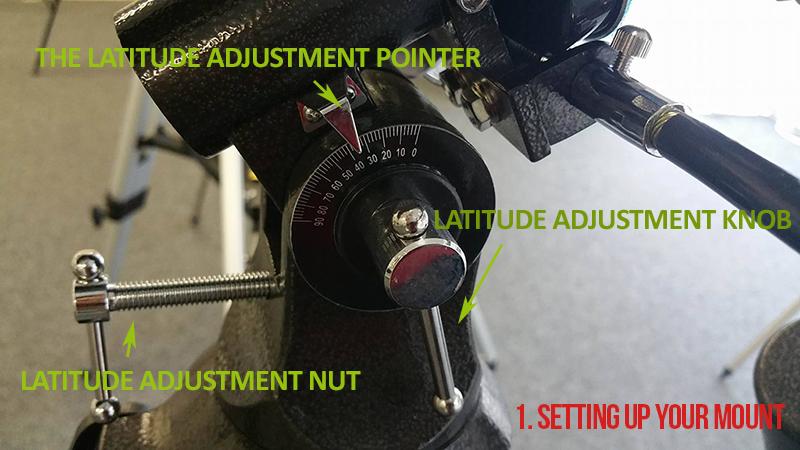 The Latitude Adjustment Pointer