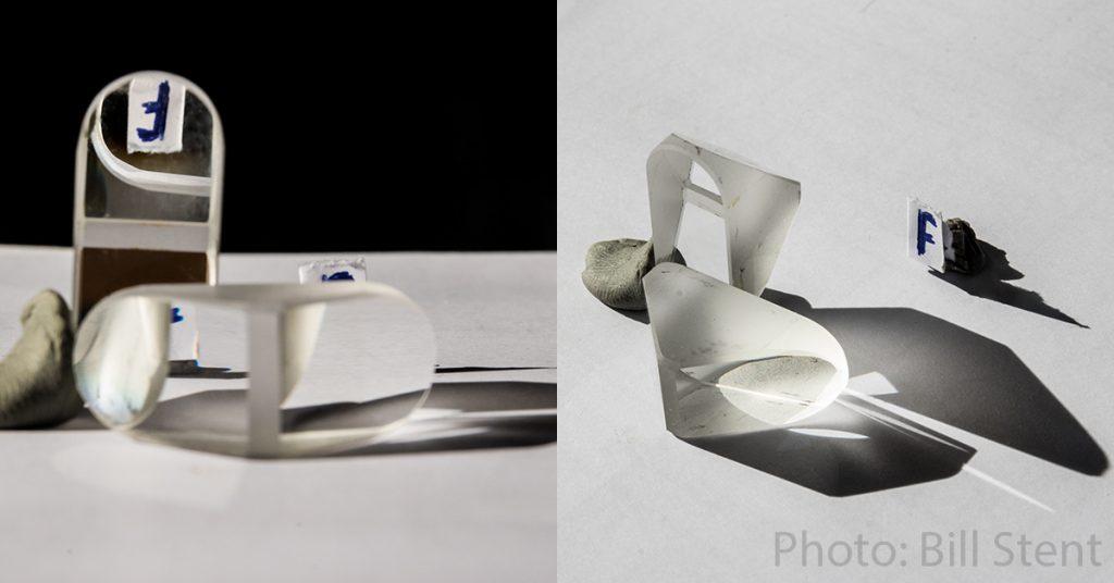 A pair of Porro prisms