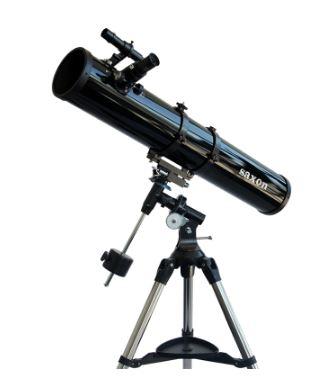 Saxon 1149EQ2 Reflector Telescope w/ Steel Tripod