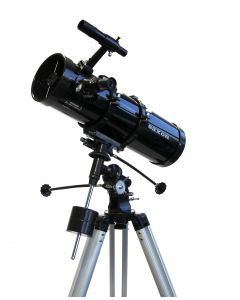 Saxon 13065EQ2 Velocity Reflector Telescope w/ Motor Drive with FREE Scopepix Pro Smartphone Adapter