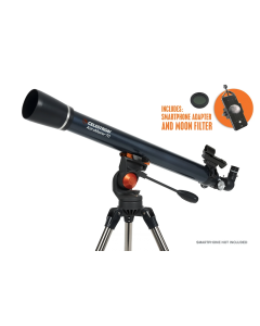 Celestron Astromaster 70AZ Telescope with Phone Adapter and Moon Filter