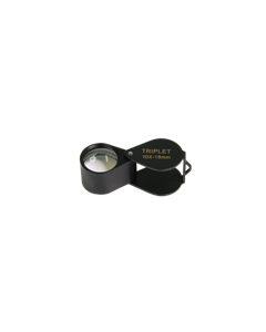 Saxon 18mm 10x Metal Loupe Magnifier-Black
