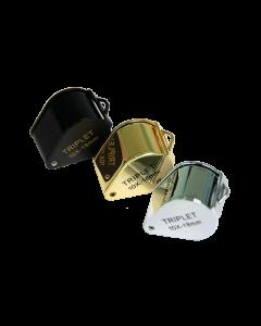 Saxon Metal Loupe 18mm 10x Compact Magnifier