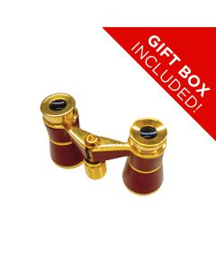 Saxon 3x25 R Red Opera Glasses w Strap