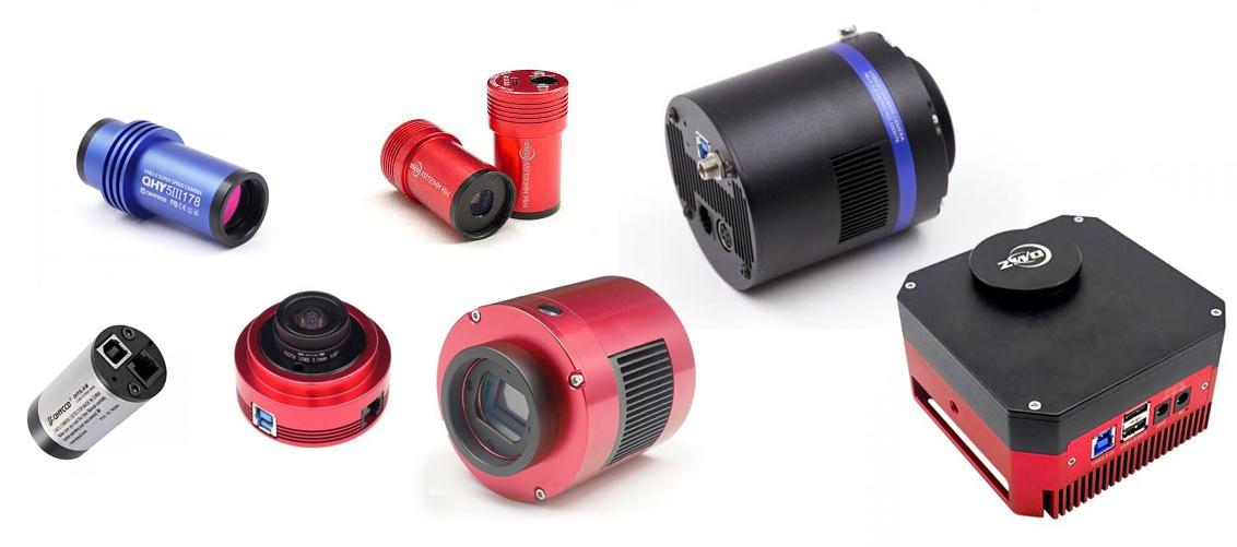 A range of astronomical cameras